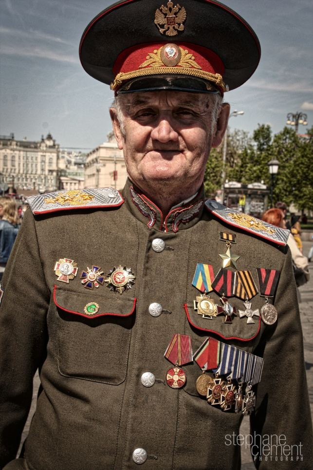 Old military Russian man