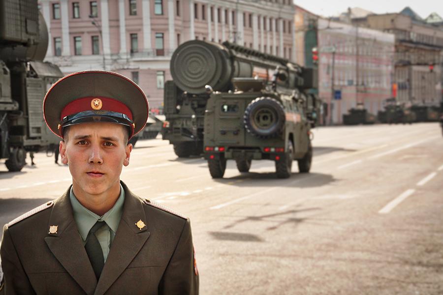 Moscou, 70ème anniversaire de l'union Soviétique sur l'Allemagne Nazie