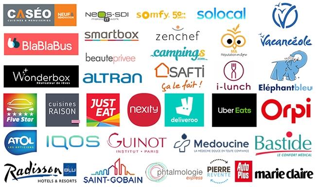 Logos référence clients, partenaire